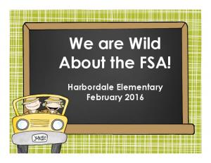We are Wild. About the FSA!