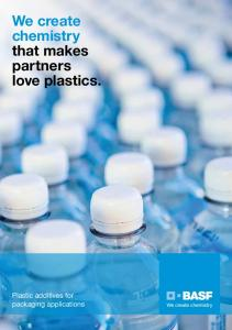 We create chemistry that makes partners love plastics