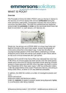 We defend POCA, Fraud and HMRC investigations