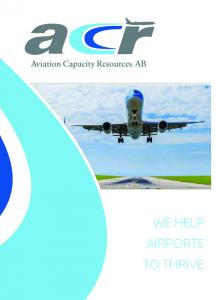 WE HELP AIRPORTS TO THRIVE