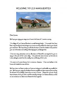 We hope you enjoy your stay at our home in the heart of Touraine country