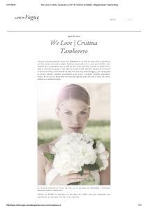 We Love Cristina Tamborero