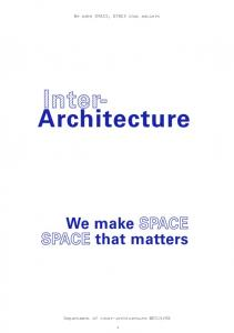 We make SPACE, SPACE that matters