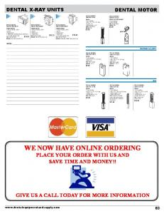 WE NOW HAVE ONLINE ORDERING PLACE YOUR ORDER WITH US AND SAVE TIME AND MONEY!!