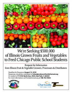 We re Seeking $500,000 of Illinois Grown Fruits and Vegetables to Feed Chicago Public School Students
