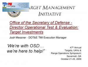 We re with OSD we re here to help!