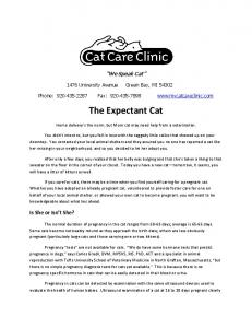 We Speak Cat University Avenue Green Bay, WI Phone: Fax:
