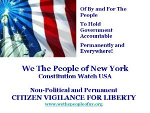 We The People of New York Constitution Watch USA