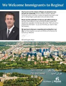 We Welcome Immigrants to Regina!