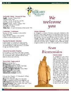 We welcome you. Sean Bienvenidos