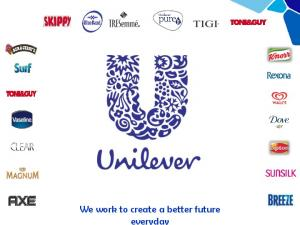 We work to create a better future everyday