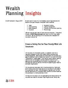 Wealth Planning Insights