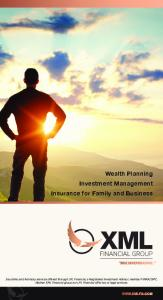 Wealth Planning Investment Management Insurance for Family and Business