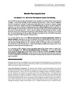 Wealth Planning Services
