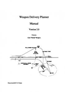 Weapon Delivery Planner. Manual