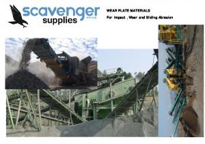 WEAR PLATE MATERIALS. For Impact, Wear and Sliding Abrasion