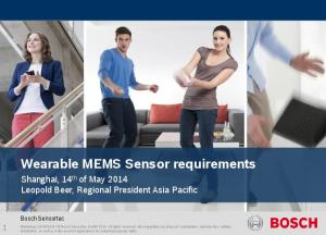 Wearable MEMS Sensor requirements