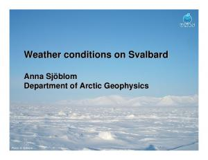 Weather conditions on Svalbard