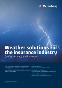 Weather solutions for the insurance industry