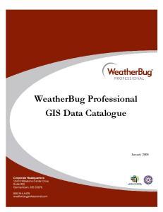 WeatherBug Professional GIS Data Catalogue