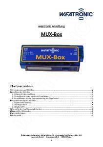 weatronic Anleitung MUX-Box