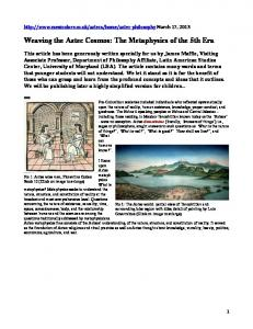 Weaving the Aztec Cosmos: The Metaphysics of the 5th Era