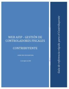 WEB AFIP - GESTION DE CONTROLADORES FISCALES