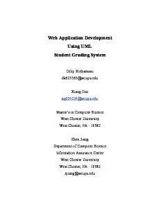 Web Application Development Using UML Student Grading System