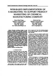 WEB-BASED IMPLEMENTATION OF E-MARKETING TO SUPPORT PRODUCT MARKETING OF CHEMICAL MANUFACTURING COMPANY