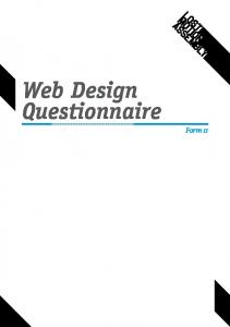 Web Design Questionnaire. Form 11