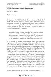 W.E.B. Dubois and Socratic Questioning 1