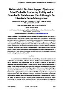 Web-enabled Decision Support System on Most Probable Producing Ability and a Searchable Database on Herd Strength for Livestock Farm Management