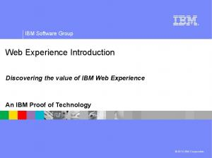 Web Experience Introduction