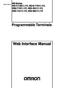 Web Interface Manual