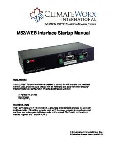 WEB Interface Startup Manual