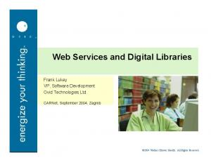 Web Services and Digital Libraries
