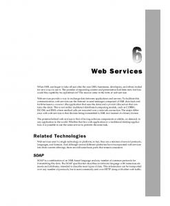 Web Services. Related Technologies SOAP