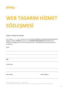 WEB TASARIM HİZMET SÖZLEŞMESİ