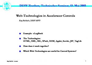 Web-Technologies in Accelerator Controls