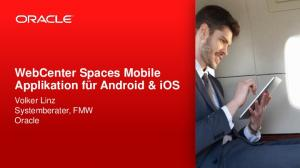 WebCenter Spaces Mobile Applikation für Android & ios