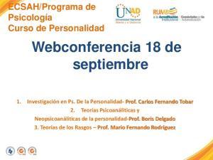 Webconferencia 18 de septiembre