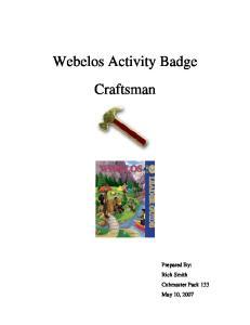 Webelos Activity Badge Craftsman