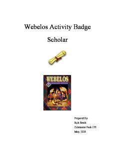 Webelos Activity Badge Scholar
