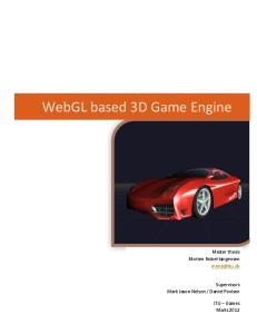 WebGL based 3D Game Engine