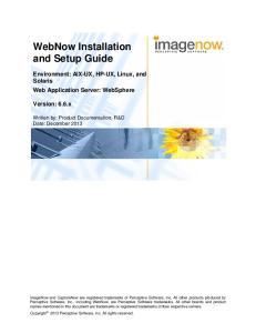 WebNow Installation and Setup Guide
