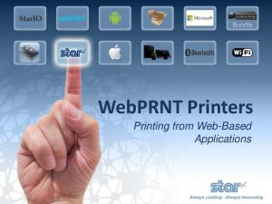 WebPRNT Printers. Printing from Web-Based Applications