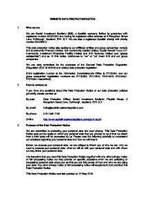 WEBSITE DATA PROTECTION NOTICE
