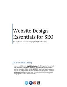 Website Design Essentials for SEO