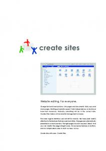 Website editing. For everyone