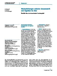 Wechselwirkungen zwischen Sensomotorik und Kognition im Alter